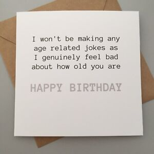 Image Is Loading FUNNY BIRTHDAY CARD FRIENDS MATES HUMOUR FUN SARCASM