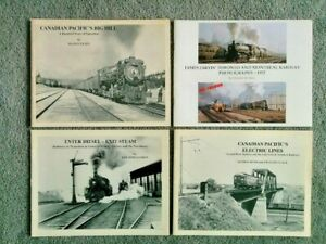 SC-B-amp-W-Train-Railroad-Book-TORONTO-1952-Steam-Canadian-Pacific-Electric-BIG-HILL