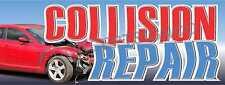 3x8 Collision Repair Banner Large Outdoor Sign Car Auto Body Shop Service Fix