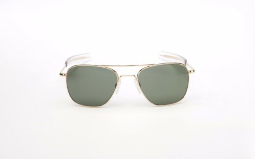 The New 2018 RE 58mm 23K Gold Plated Bayonet AGX Non-Polarized Pilot Sunglasses