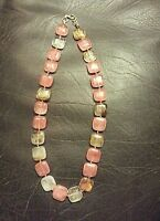 Necklace 18''-21 Knotted String Watermelon Tourmaline Beads Choose One Handmade