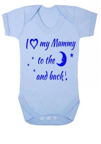 Body Strampler Top Baby Jungen Mädchen I Love My Auntie Zum Mond Hinten Weste