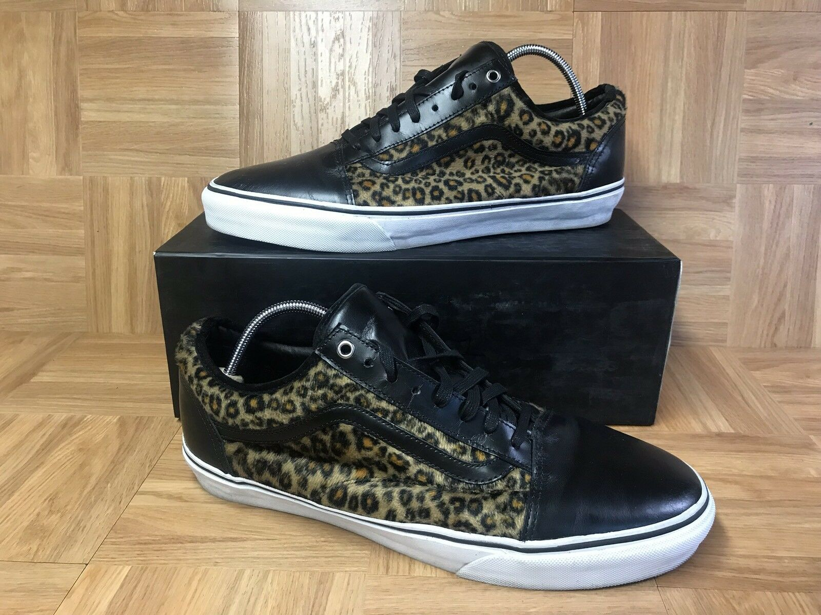 5062b9faa4c8c3 Rare vans old skool pro ave cheetah black leather supreme jpg 1600x1200 Jason  dill shoes