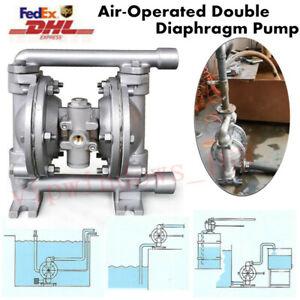 1//2/'/' Inlet Aluminium Air-Operated Double Diaphragm Pump PTFE 5.3GPM 100PSI