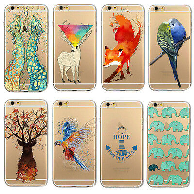 Soft Thin Silicone TPU Clear Printed Phone Cover Case For iPhone 5 5S 5C 6 6S