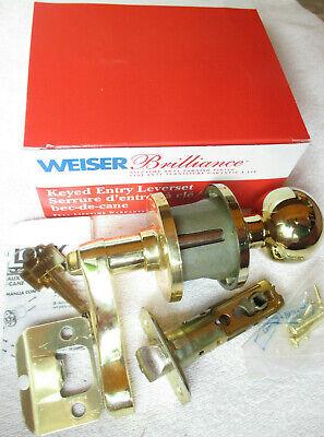 530 H//C 3 KD BX RH LOT OF 3 Weiser Keyed Entry Leverset Door Handle w// Knob NLA