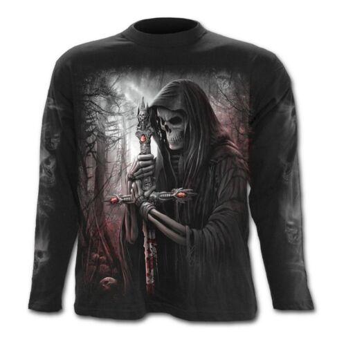 Espiral-Soul Buscador-Mangas Largas Camiseta//Biker//Calavera//metal//horror//goth//
