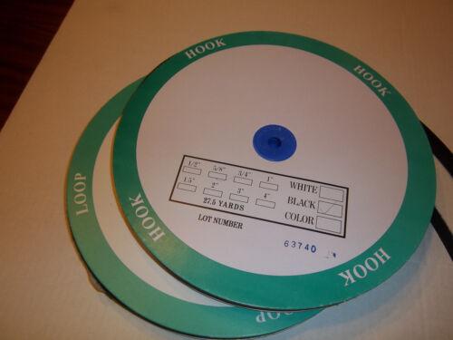 """1 yard 5//8/"""" black hook and loop tape fastener sew in"""