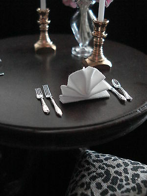 Red Check Folded Napkins Dollhouse Miniature Lot of 2