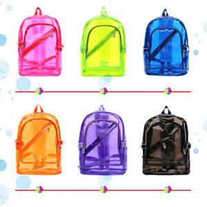 Image Is Loading Uni Transpa Travel Bag School Security Clear Backpack