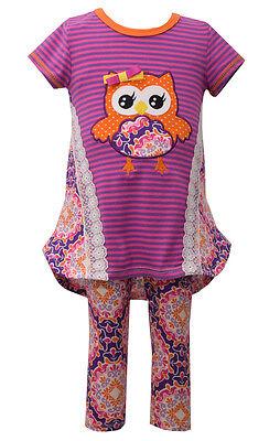 New Girl Bonnie Jean 2 PC Owl Sweater Tutu Legging Set Outfit 12 18 24 Months