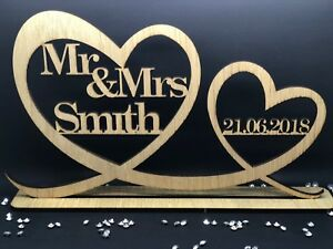 Personalised-Mr-amp-Mrs-Wood-Table-Sign-amp-Date-Mr-and-Mrs-Wedding-Decoration-Gift