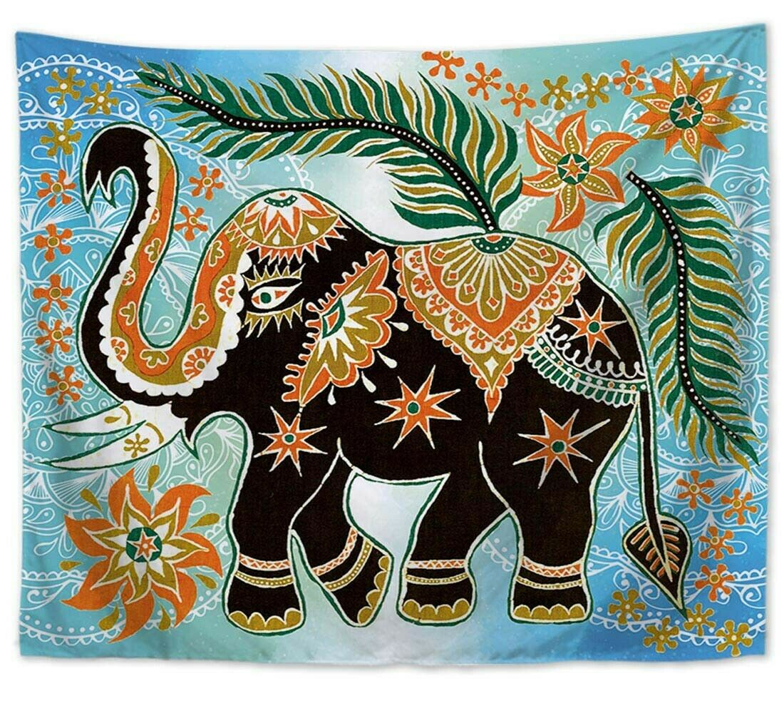 US SELLER - 10 pieces male male male tapestry elephant tree of life Chakra wall hanging 8d3302