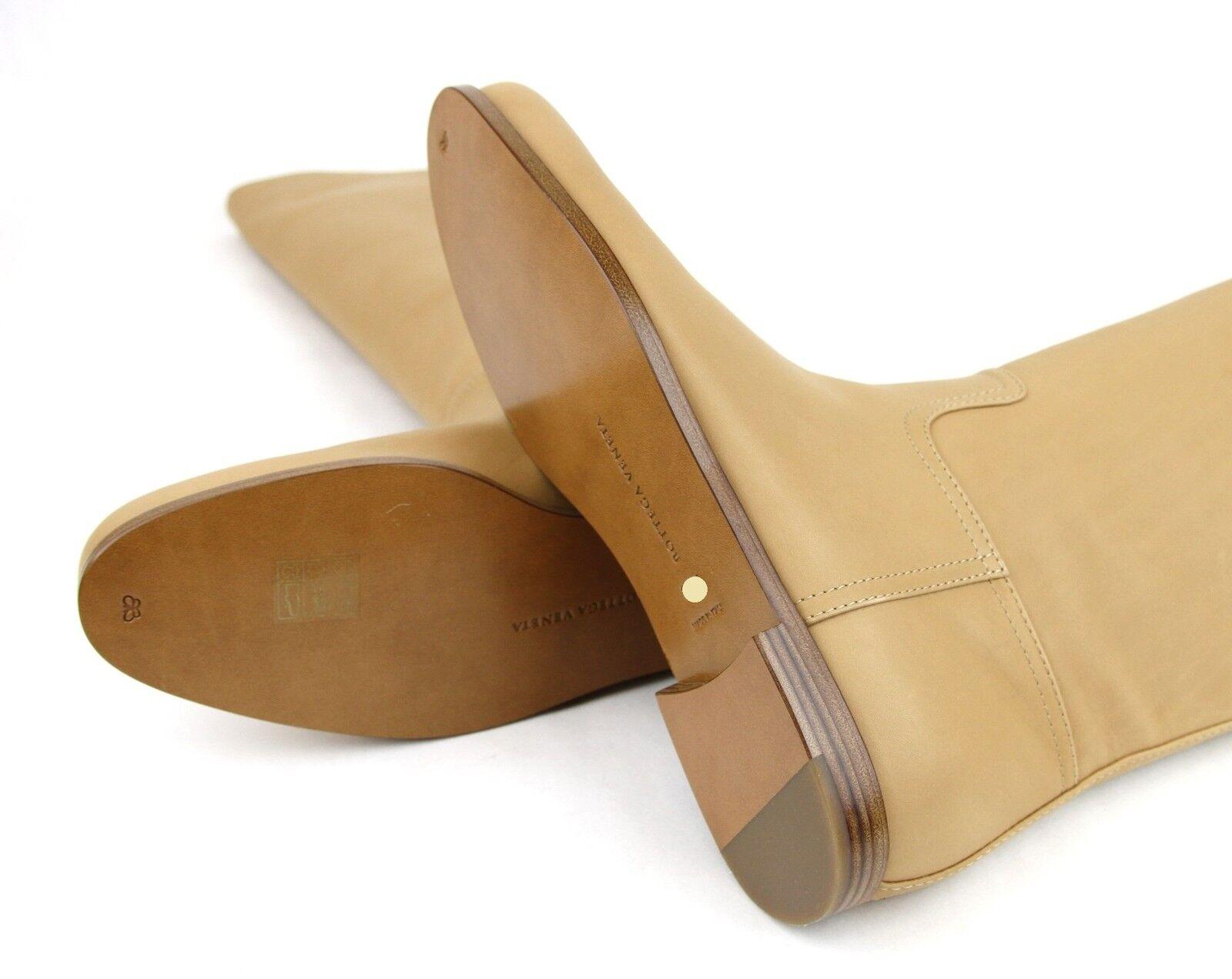 1280 New Authentic Bottega Veneta Leather Tall Stiefel, Stiefel, Stiefel, Tan, 297865 2841 d3f333