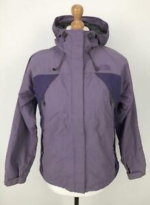 Vintage-THE-NORTH-FACE-Womens-HYVENT-Jacket-Hooded-Waterproof-Small-S-Purple