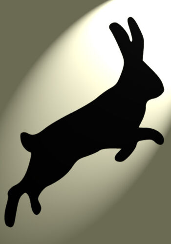 Country Vintage A4 297x210mm wall art Furniture des 3 Shabby Chic Stencil Hare