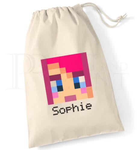 Personalised Girls Amy Lee Head Drawstring Canvas PE Games Bag