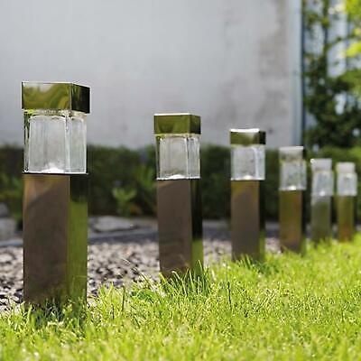 Set Of 10 Luxform Balos Led Solar Lights Garden Stakes Outdoor