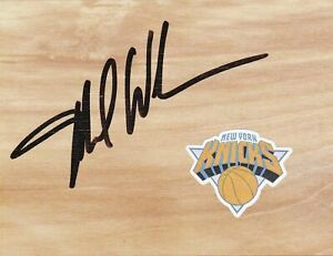 New York Knicks Cocach Mike Woodson Signed Floorboard COA