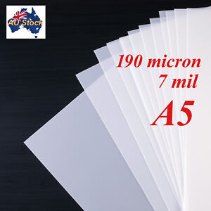 Details about Stencil Film 10 sheets A5 Mylar: 190 micron (7 mil)