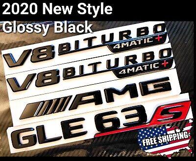 LUOWAN Gloss Black fit GLE43 AMG BITURBO 4 MATIC Number Emblem Sticker for Merce des 2015-2016