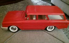 VINTAGE 1960s BUDDY L PRESSED STEEL FORD RED STATION WAGON