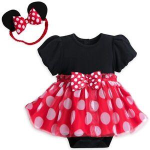 2c28427364ea Image is loading Disney-Authentic-Minnie-Mouse-Baby-Bodysuit-amp-Headband-