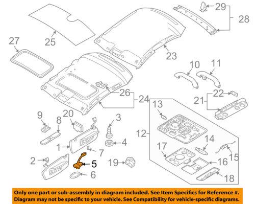 AUDI OEM 02-05 A4 Quattro Interior-Roof-Bracket 8W0857562AY22