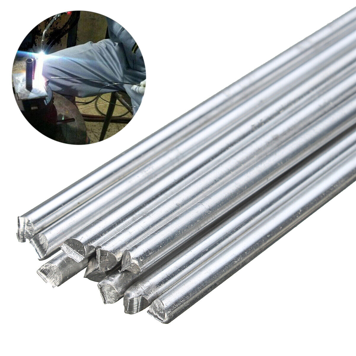 10pcs 2mmx450 mm Niedriger Temperatur Aluminium Schweißstäbe Schweißdraht Set DE