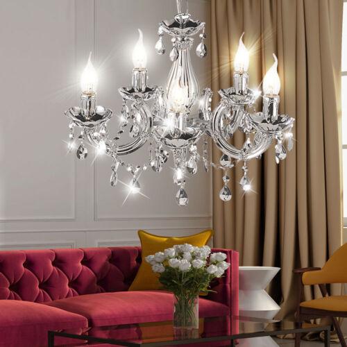RGB LED Hänge Lampe Küchen Kronleuchter Kristall Decken Luster Leuchte DIMMBAR