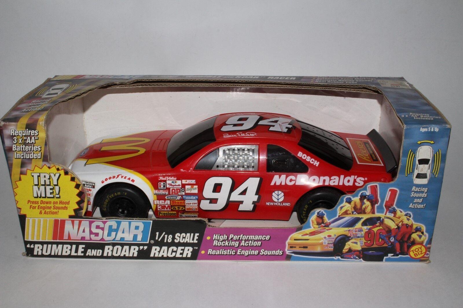 TOY BIZ 1997 NASCAR McDONALDS BILL ELLIOTT 1 18 SCALE RUMBLE AND ROAR
