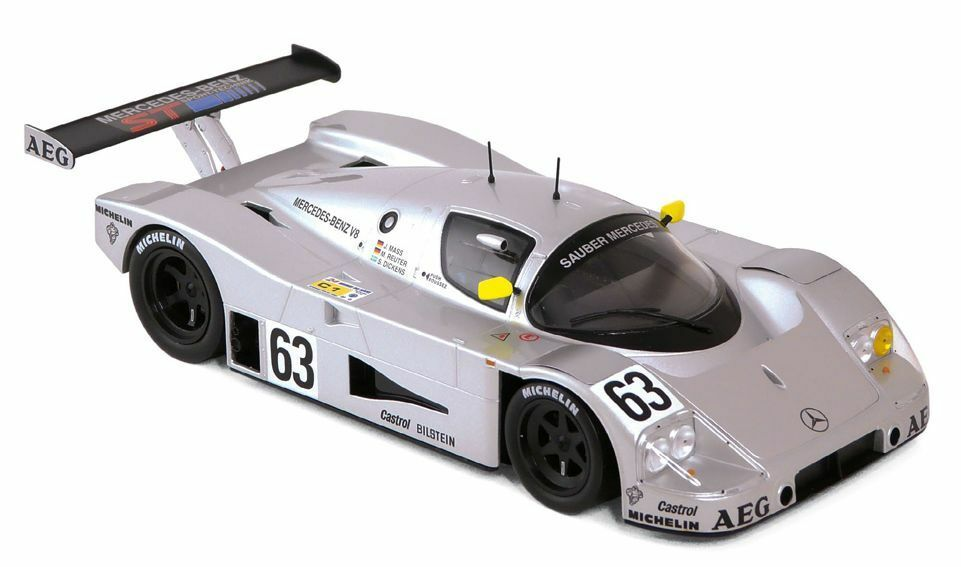 NOREV 183442 propre Mercedes c9 Model Car Win 24hr France 89 MEUSE REUTER 1 18th