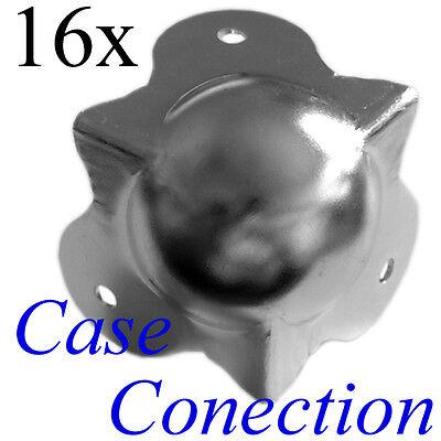 16x Kugelecke // Boxenecke 50mm mittel Stahl verzinkt Kofferecke Stahlecke
