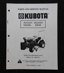 kubota b5100 b6100 b7100 tractor b3048 mower deck service parts rh ebay com Kubota B7100 Loader Attachment Kubota B7100 Problems