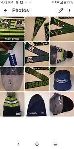 Seattle Seahawks beanie baseball hat banner Flag scarf pennant man cave fan wear