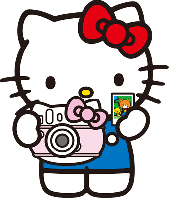 Hello Kitty Camera Sticker for skateboard luggage laptop tumblers car
