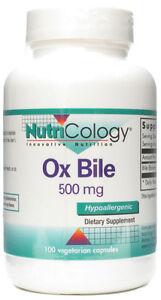 Nutricology Ox Bile 500 mg - 100 Vegicaps
