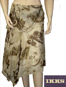 Jupe longue fluide femme beige IKKS woman taille 38   eBay 06ee51b0ff0