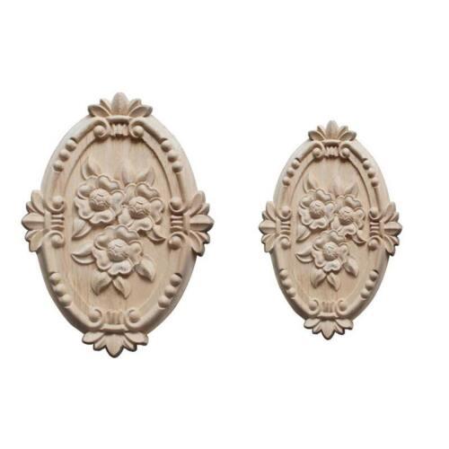 Wooden Mouldings Furniture Applique Onlays Decorative Carvings Unpainted
