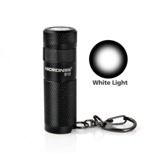 Nicron Mini EDC USB Rechargeable LED KeyChain Flashlight Key Ring 16340 Lamp