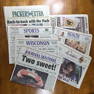 1998-Green-Bay-Packers-newspaper-coverage-Milwaukee-Journal-Wisconsin-State
