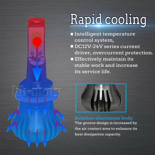 2Pcs LED 9005//HB3 COB Flash Strobe Blinking Car Fog Light Dual Color Waterproof