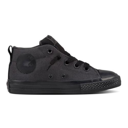 Pre School Size Converse Chuck Taylor All Star Street Mid Black//Black 658105F