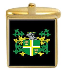 Hynd England Familie Wappen Familienname Gold Manschettenknöpfe Graviert Kiste Verkaufspreis