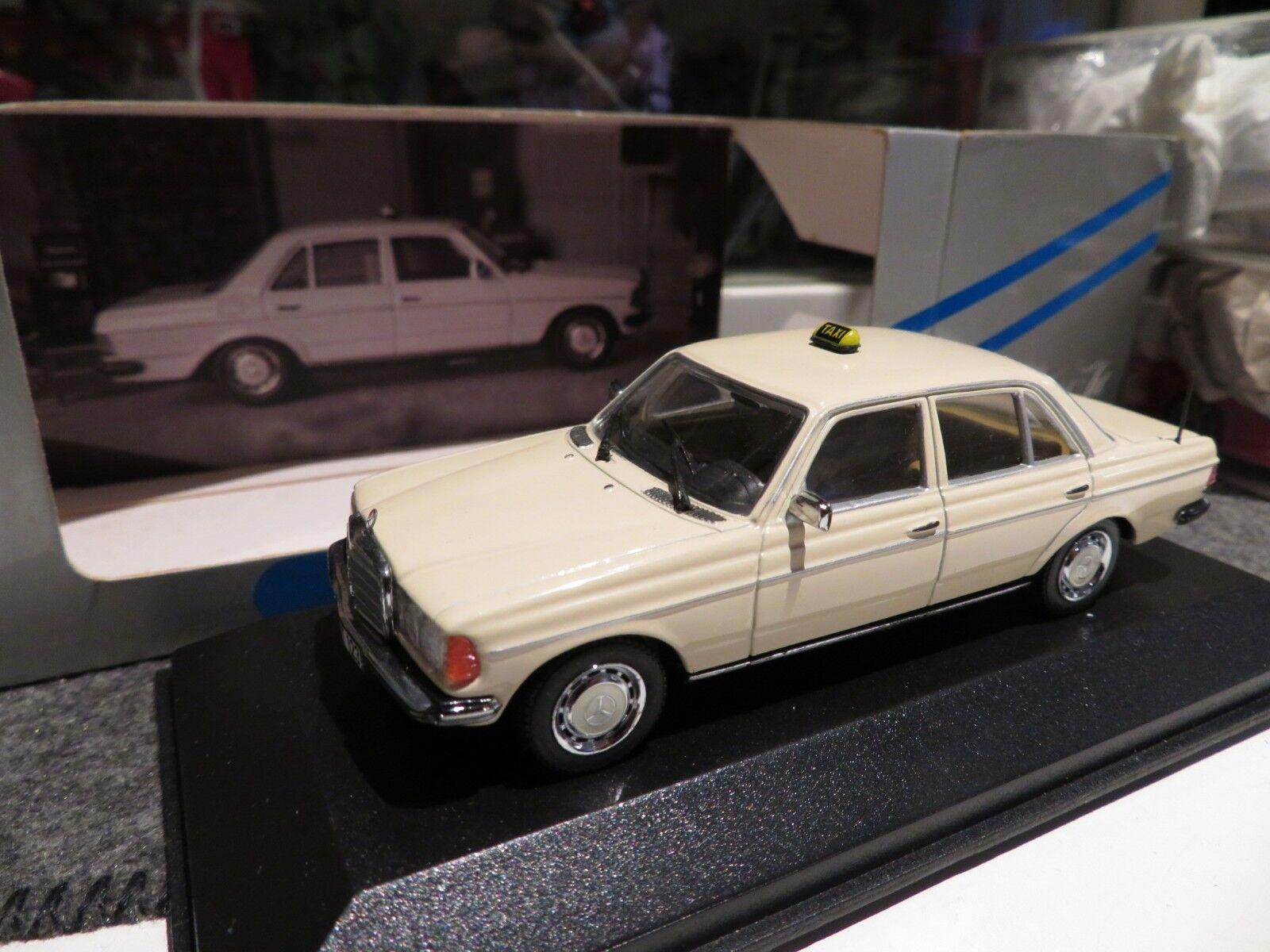 1 43 Minichamps Mercedes Benz W  123 Limousine Taxi diecast  service honnête