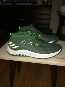 3294d442f9ac0 Details about New Adidas Dame 4 Lillard Green White Men's Basketball Shoes  Size 14 B76016