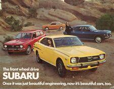 Subaru 1300 & 1400 1973 USA Market Leaflet Sales Brochure Leone
