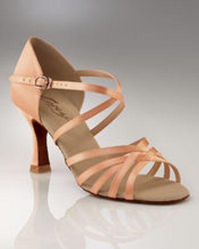 sd02s capezio ladies ballroom latin dance shoes camel satin new