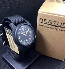 BERTUCCI DX3 Field Watch Black 1-Piece Strap NEW!