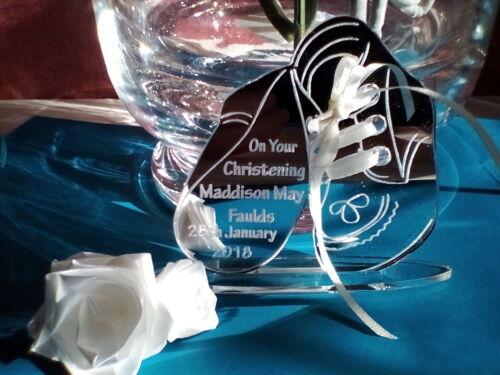 Christening Personalised Gift Laser Engraved Acrylic Mirror Keepsake